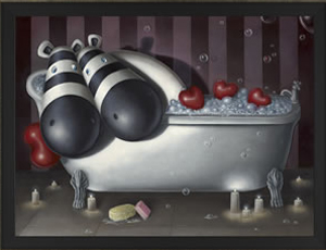 Peter Smith Rub-A-Dub Tub (Canvas on Board) 2