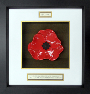 Irish-Guards-Ceramic-Framed-Poppy