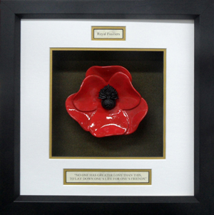 Royal-Fusilliers-Ceramic-Framed-Poppy