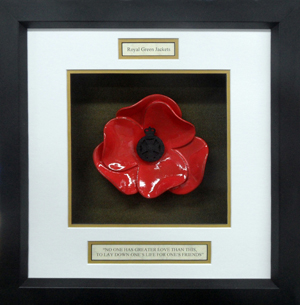 Royal-Green-Jackets-Framed-Poppy