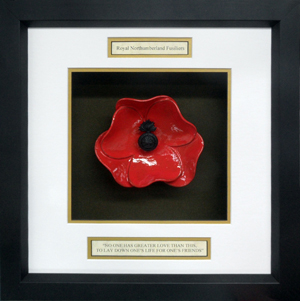 Royal-Northumberland-Fusilliers-Ceramic-Framed-Poppy