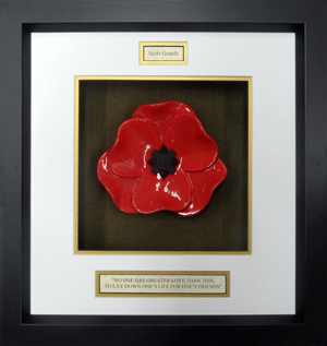 Scots-Guards-Ceramic-Framed-Poppy