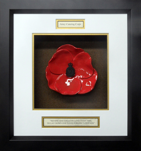 Army-Catering-Corps-Ceramic-Framed-Poppy