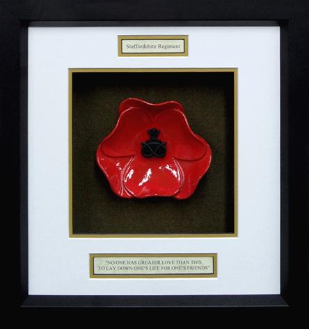 Staffordshire-Regiment-Ceramic-Framed-Poppy