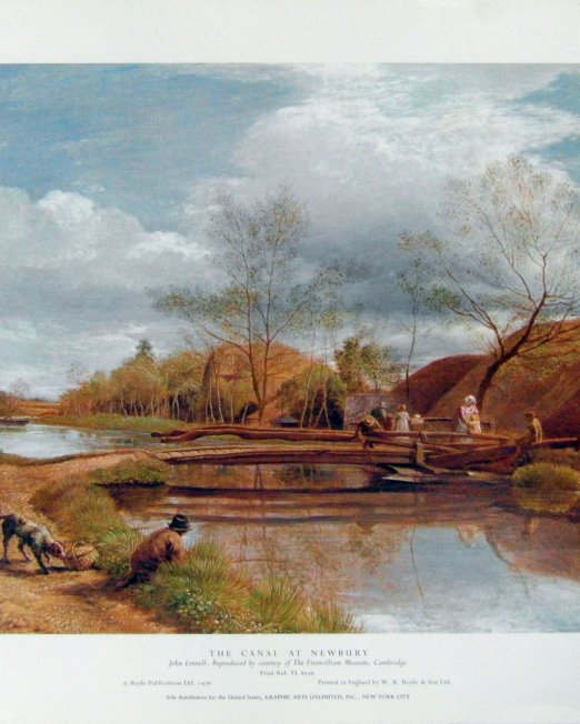 John Linnell The Canal at Newbury