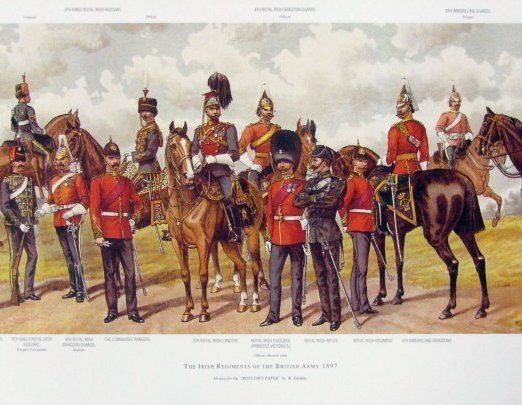 R. Simkin The Irish Regiments of the British Army 1897