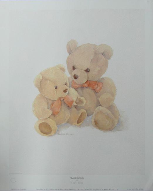 Christine-Groves Peach-Bows