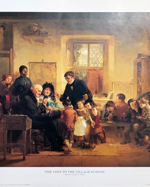 Thomas Faed - Visit To The Village School (Image 46 x 35cm)