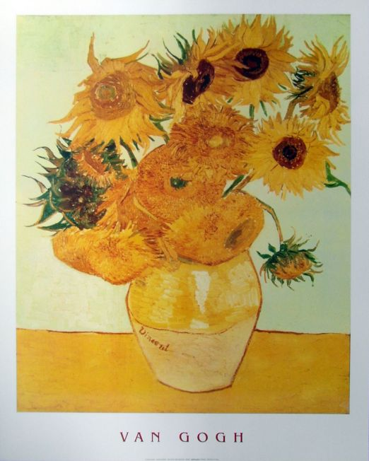 Van-Gough Sunflowers