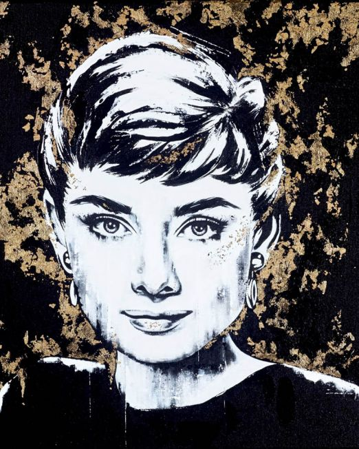 Audrey Golden Girl Unframed
