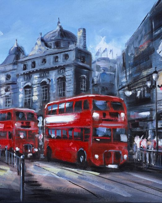 In Piccadilly Circus, London Unframed