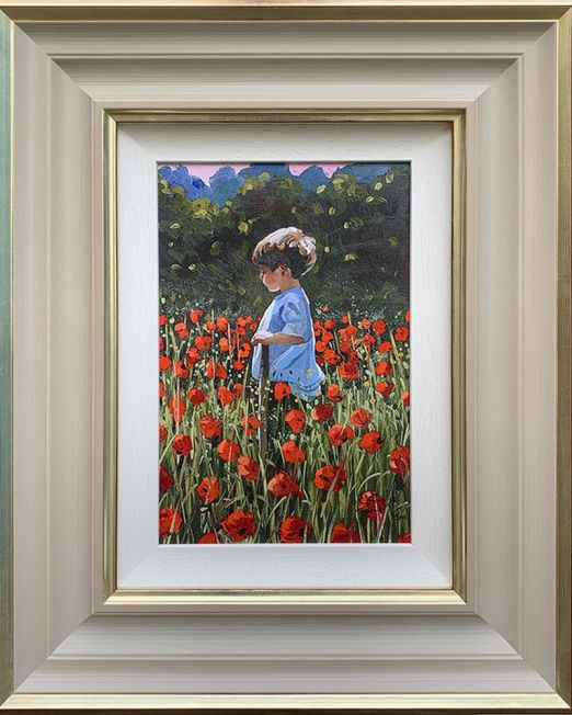 Lost Amongst The Poppies Framed