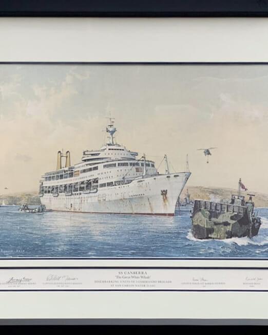 Ronald Dean SS Canberra (93x70)