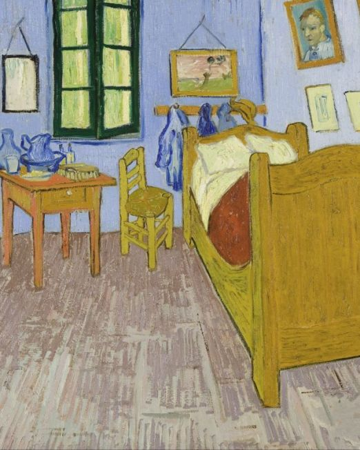 Vincent-Van-Gough Van-Gough's-Bedroom