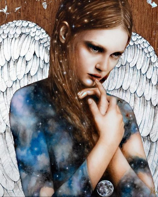 Cosmic Angel Unframed