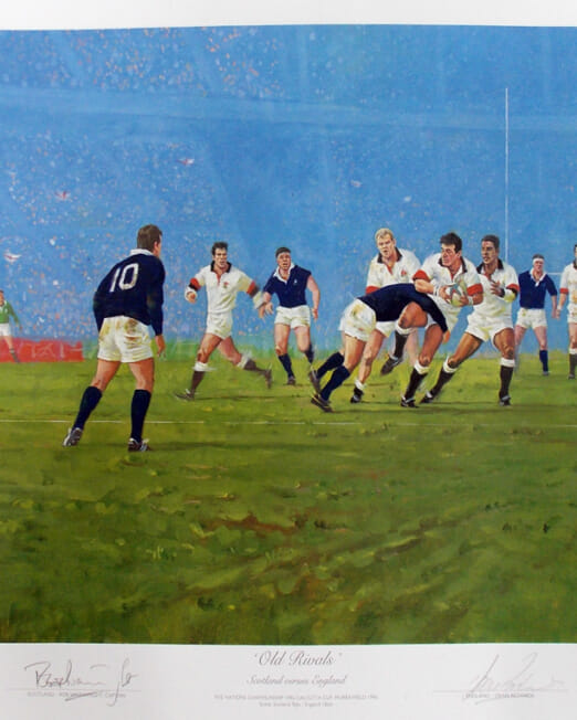 C Campbell - Old Rivals (Image 60 x 44cm)