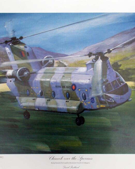 David Pentland - Chinook Over The Sperrins (Image48 x 33cm)