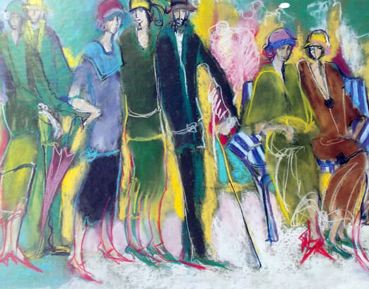 Marie Versailles - The Celebration In The Park (Image 80 x 32cm)