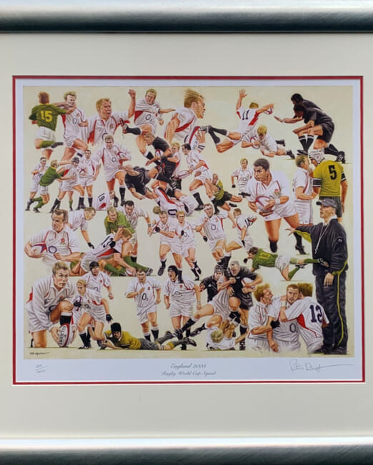 Peter Deighton England 2003 World Cup (Image 46 x 42cm) (Frame 70 x 66cm)