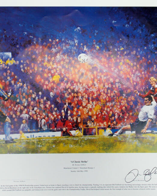 Terence Gilbert - A Classic Strike (Image 61 x 51 cm)