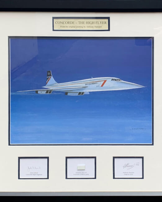 Anthony Hansard Concorde The High Flyer (Image 38 x 29cm) (Frame 54 x 54cm)