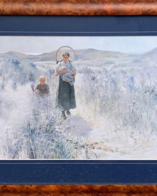 George Hitchcock Maternite (Image 48 x 34cm) (Frame 67 x 55cm)
