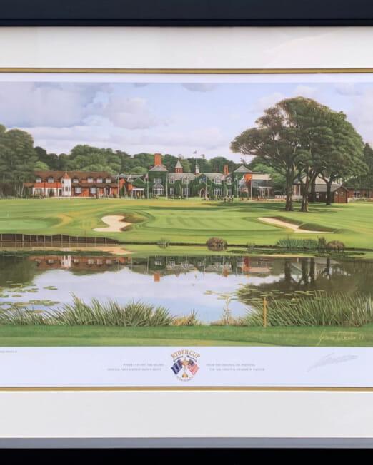 Graeme Baxter The Belfry Ryder Cup 1993 (Image 47 x 37cm) (Frame 67 x 57cm)