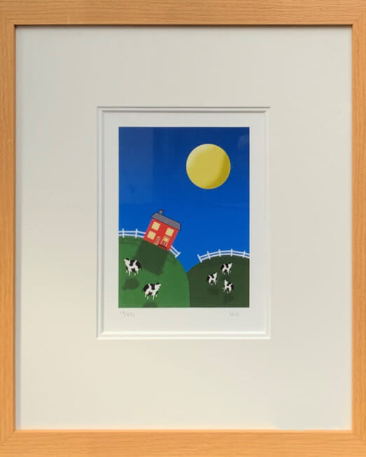 Iris Hill Top Cottage (Image 13 x 19cm (Frame 38 x 45cm)
