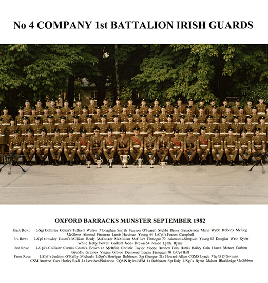 Irish Guards Master A3 42 x 23 mm Flattend WEB