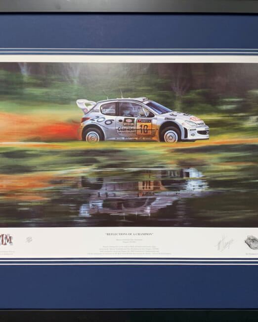 Michael Thompson Reflections Of A Champion (Image 33 x 37cm) (Frame 53 x 66cm)