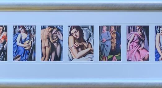 Tamera De Lempicka Untitled (96 x 13cm) (Frame 116 x 36cm)