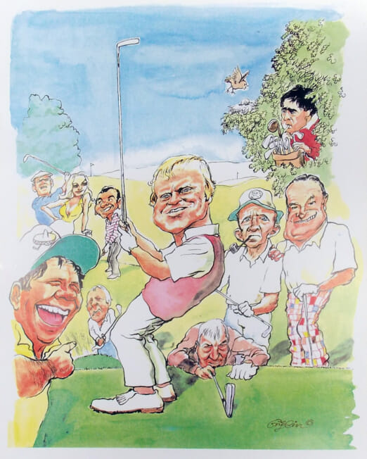 Charles Griffin - Golf Masters - (Image 29 x 21cm)