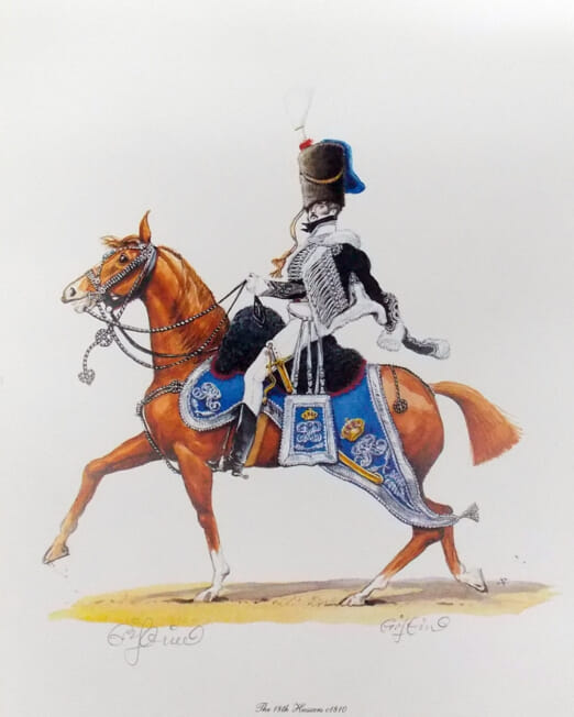 Charles Griffin The 18th Hussars 1810 (Image 31 x 22cm)