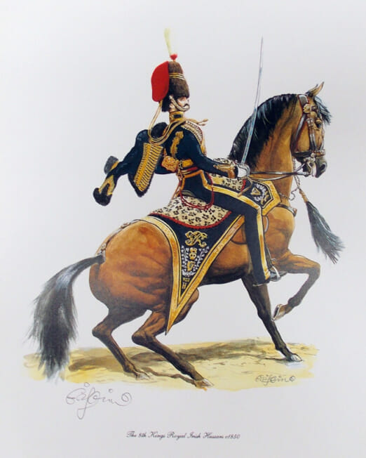 Charles Griffin The 8th Kings Royal Irish Hussars 1850 (Image 31 x 22cm)