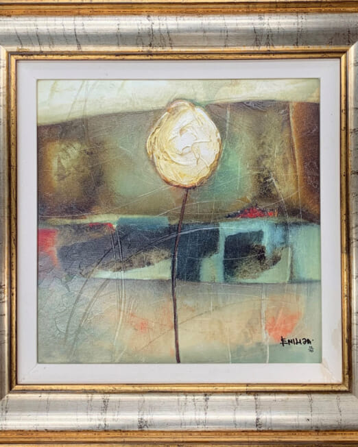 Emilija Pasagic Simple Impression I (Image SIze 37 x 37cm) (Frame Size 51 x51cm)