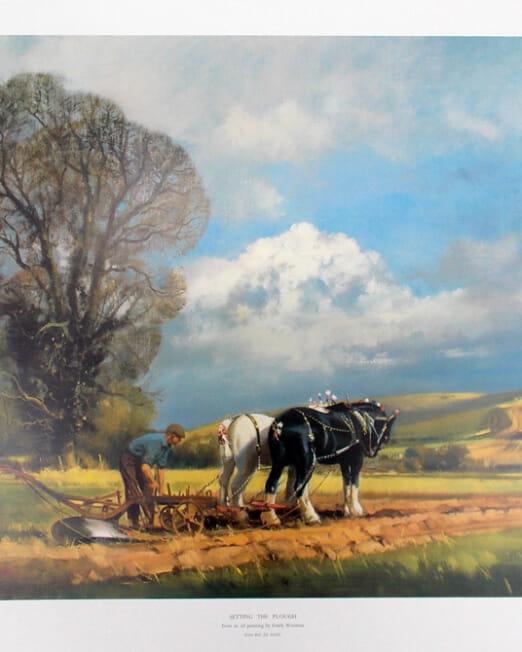 FrankWooton Setting The Plough (Image 80 x 50cm)
