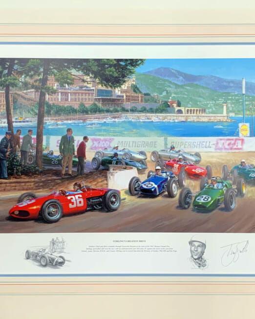 Tony Smith Sterlings Greatest Drive (Image 62 x 43cm) (Mount 80 x 62cm)