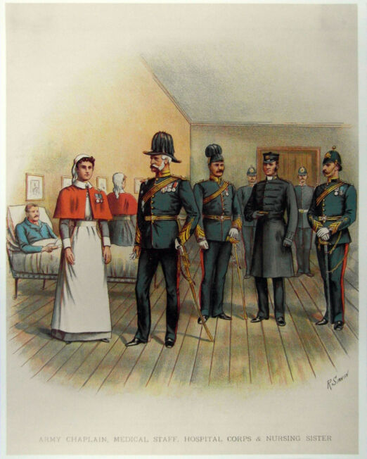 R. Simkin Army Chaplain and Medical Staff